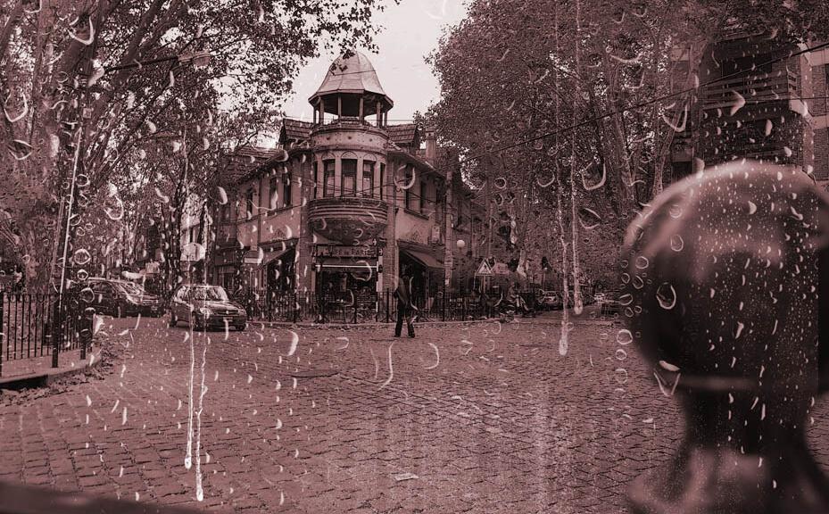 Impresión sobre vinilos foto del café de París en Buenos Aires