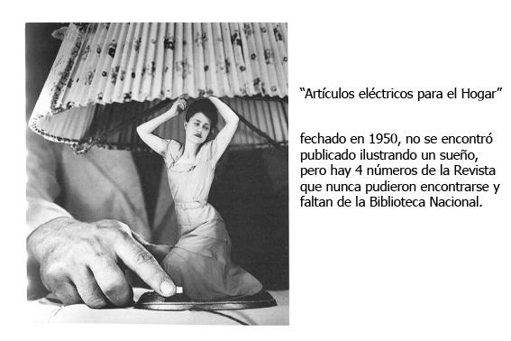 Grete Stern, su obra artículos eléctricos que lleva como figura central un velador con forma de mujer cuyo interruptor pulsa un hombre