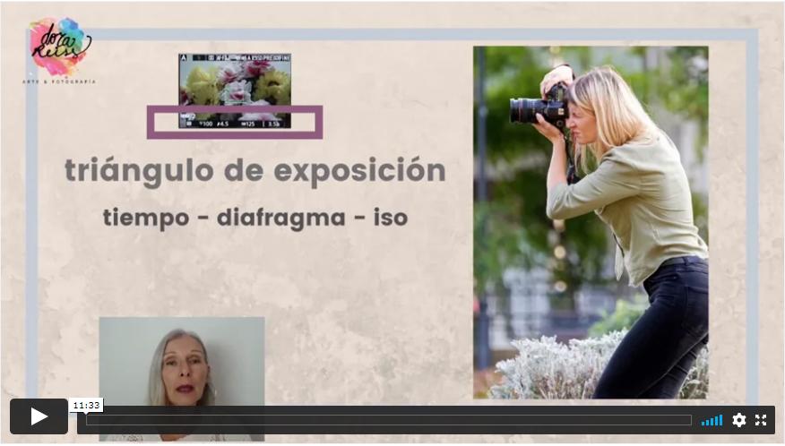 video explicativo sobre el triángulo de exposición.